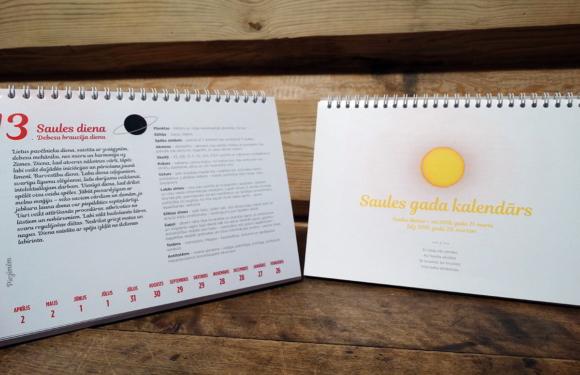 Saules gada kalendārs- jau nopērkams